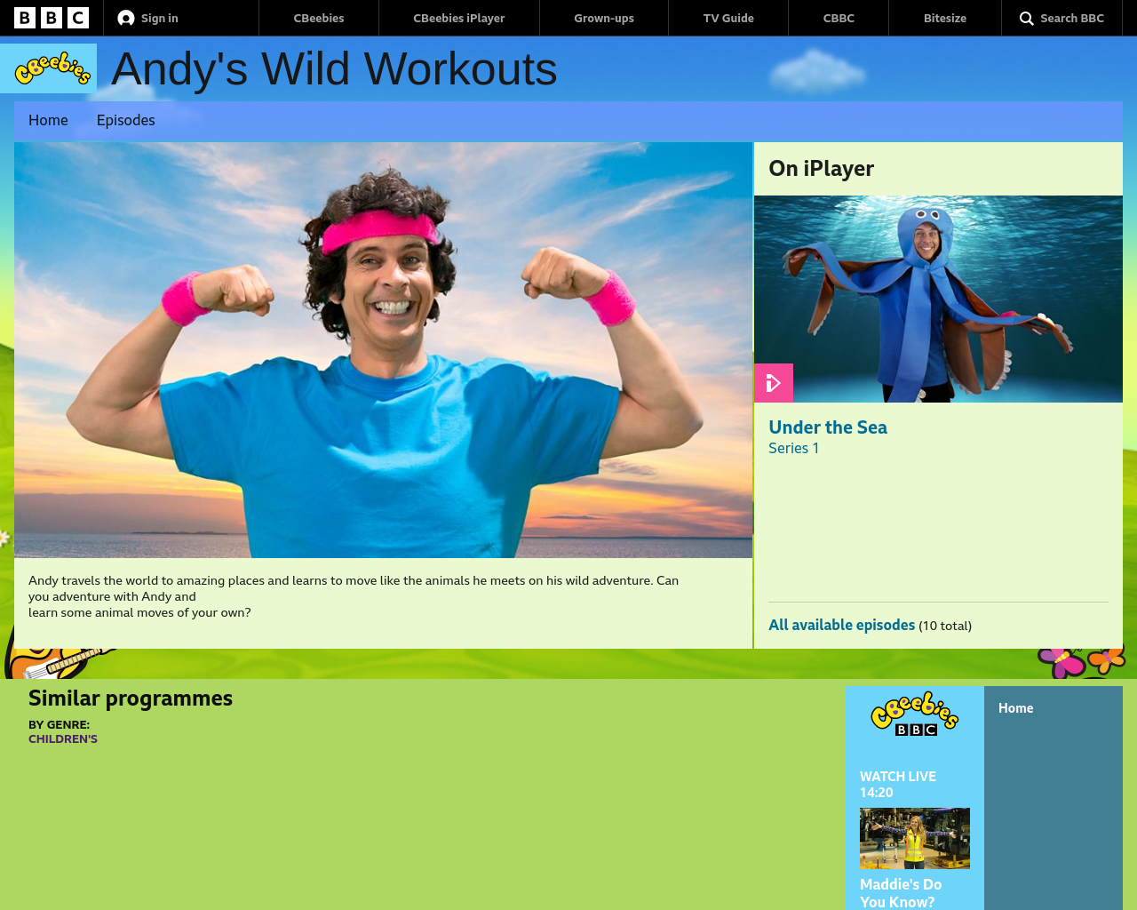 cBeebies Andy's Workouts