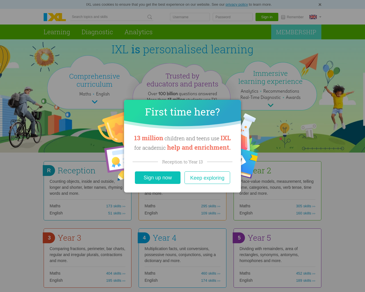 IXL Practise Maths & English
