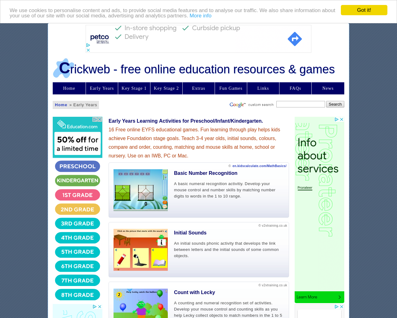Crickweb - Early Years, KS1 & KS2