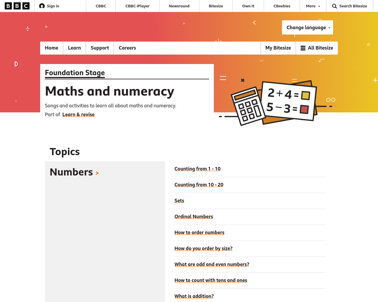 Foundation Stage Numeracy (P1 and P2)