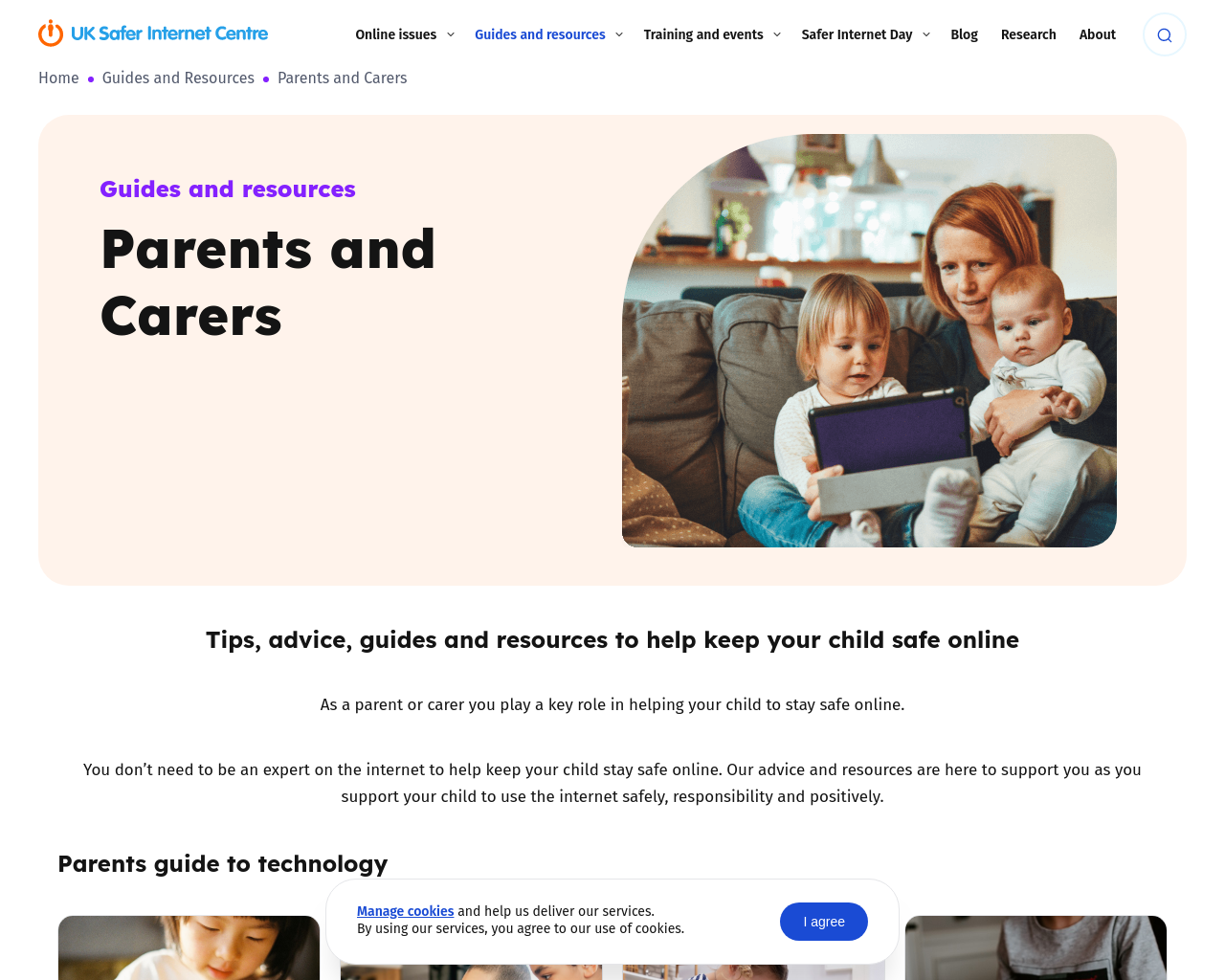 Safer Internet Links and Resources for Parents