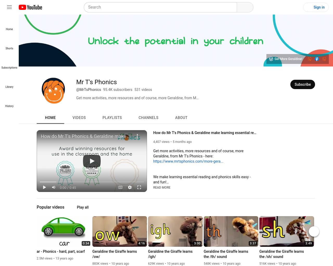 Mr T Phonics
