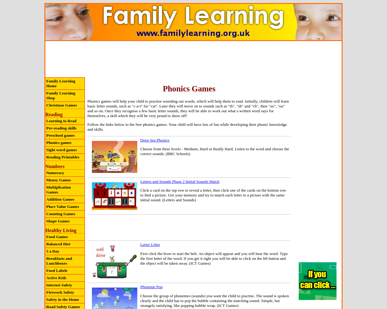 Family Learning Phonics