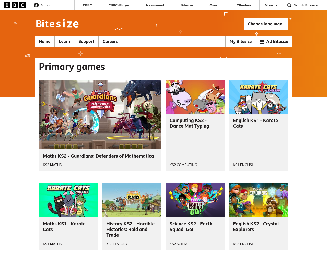 BBC Bitesize Primary Games