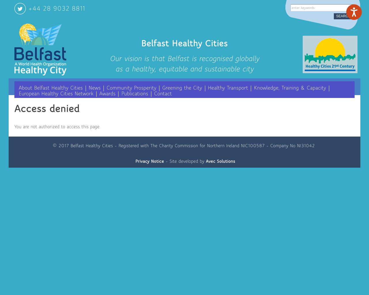 Belfast Healthy Cities
