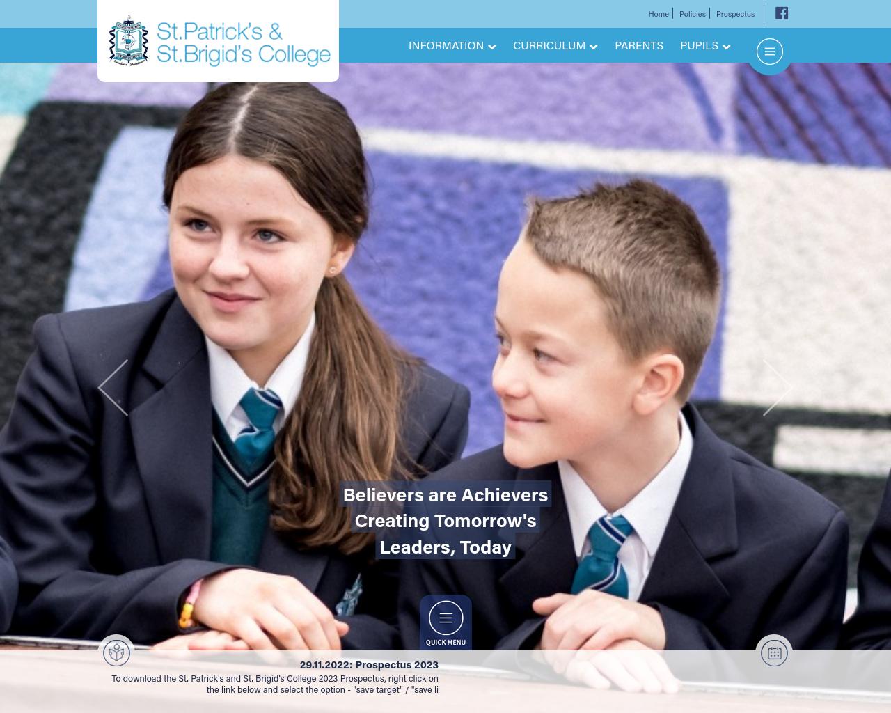 St. Patrick's and St. Brigid's College Website