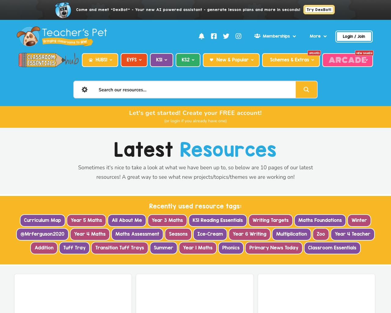 Teacher's Pet website