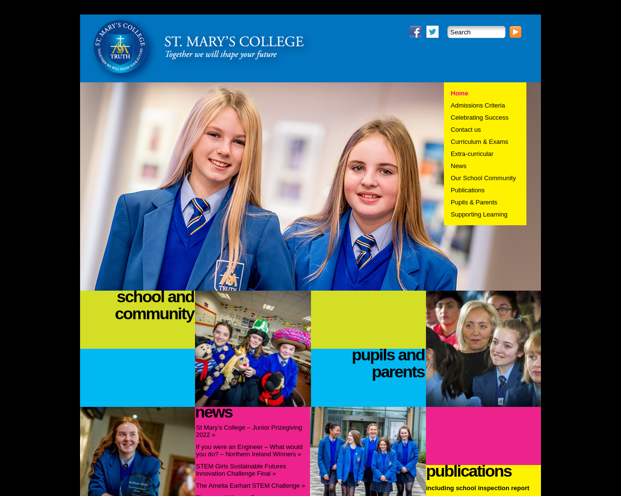 St. Mary's College Website