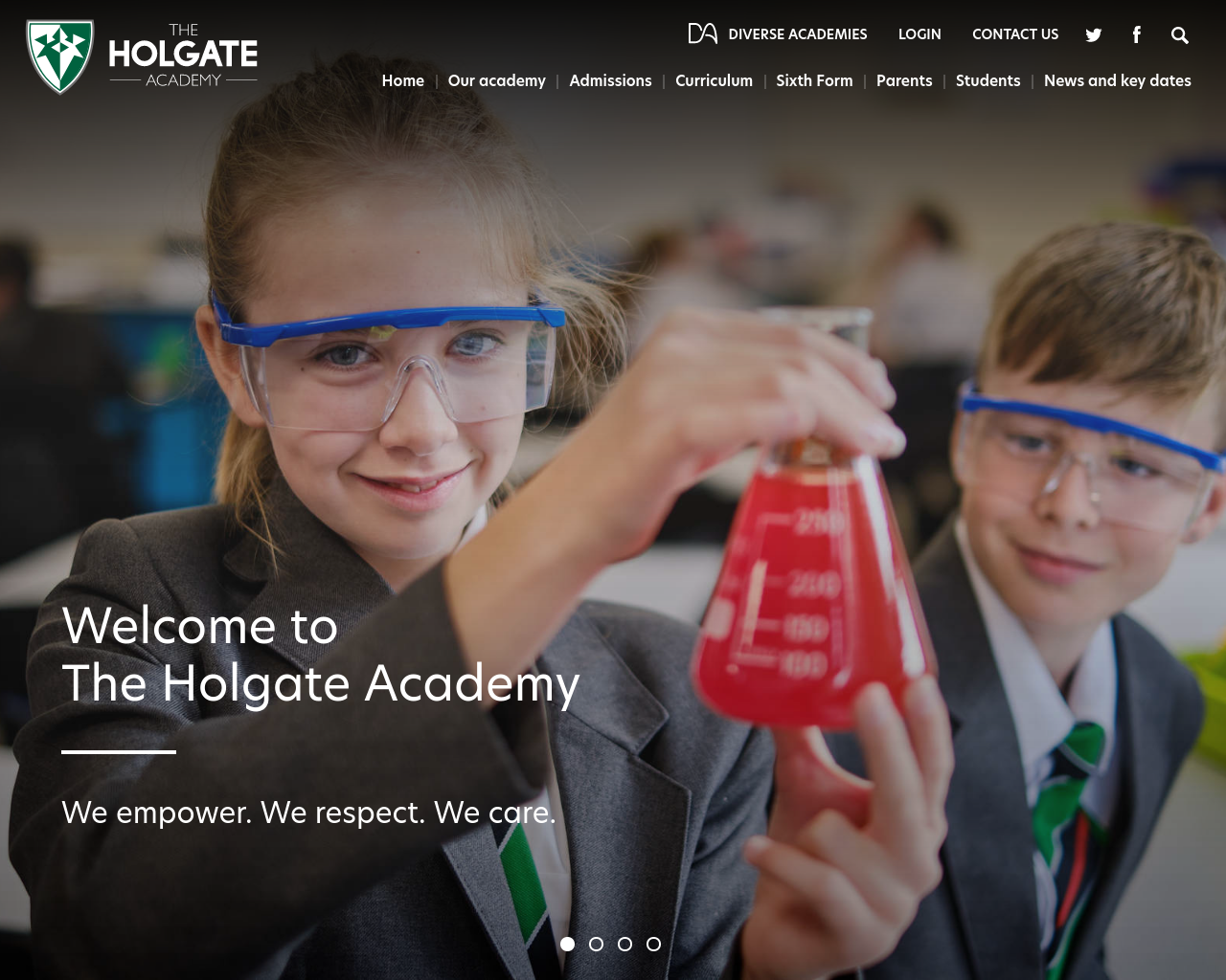 Holgate Academy website