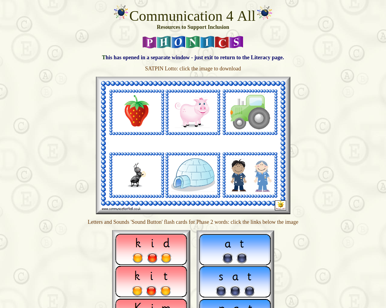 Download the Interactive Phonics Presentation