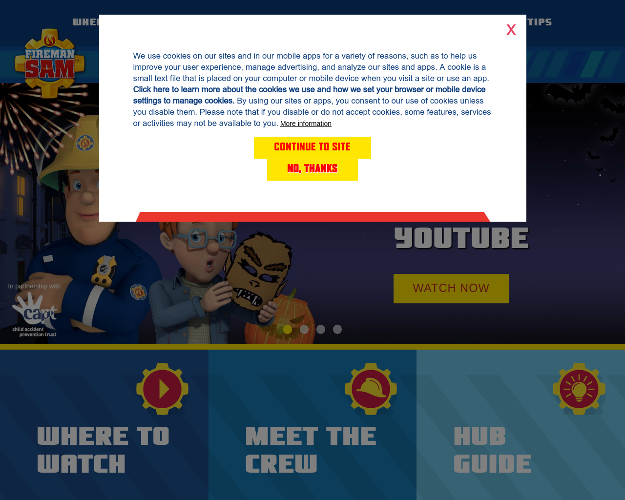 Check out Fireman Sam's Activities