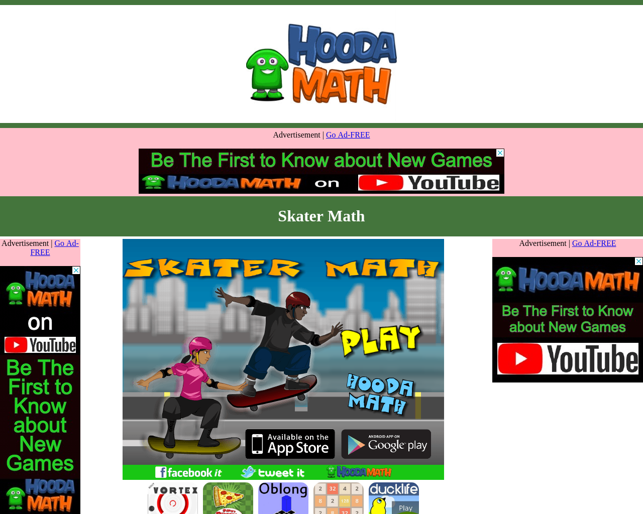 Skater Maths