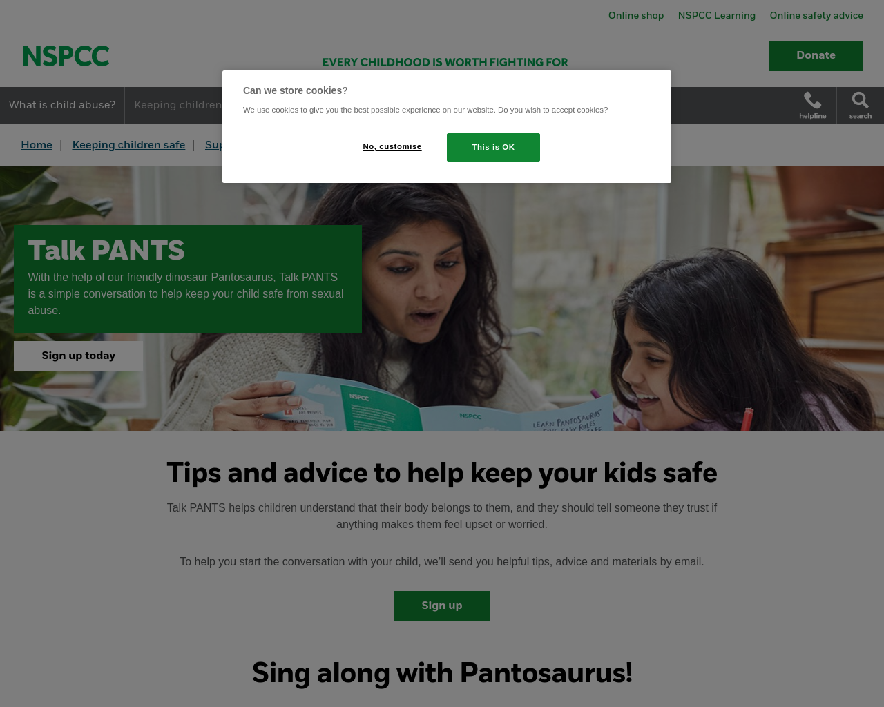 NSPCC-The Underwear Rule