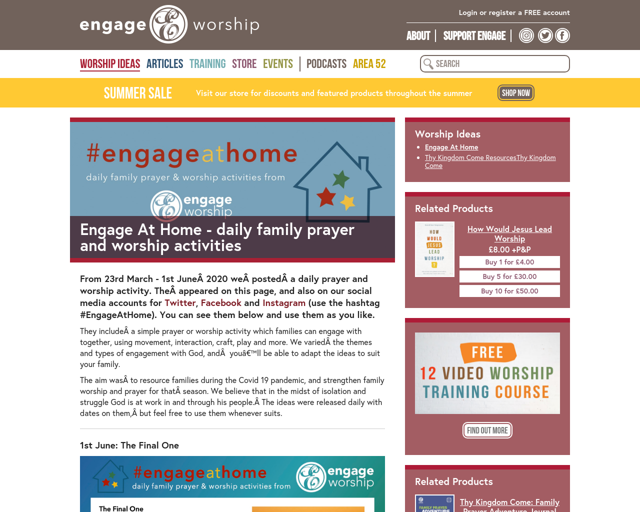 Engage and Worship