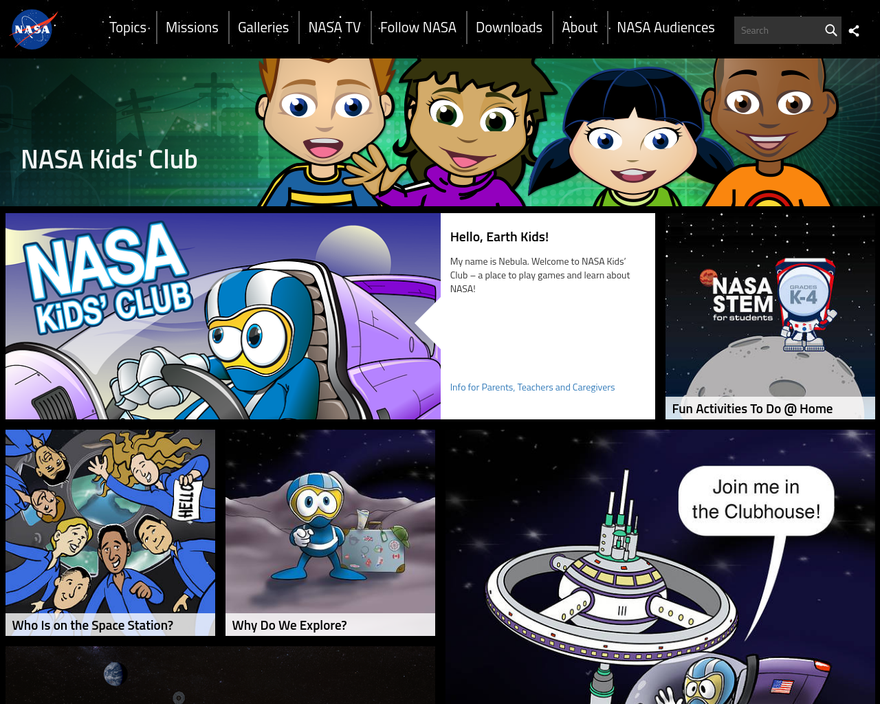 NASA Kids Club