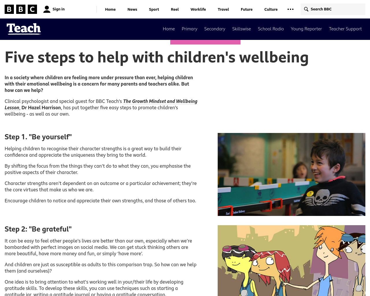 5 Steps for children's wellbeing
