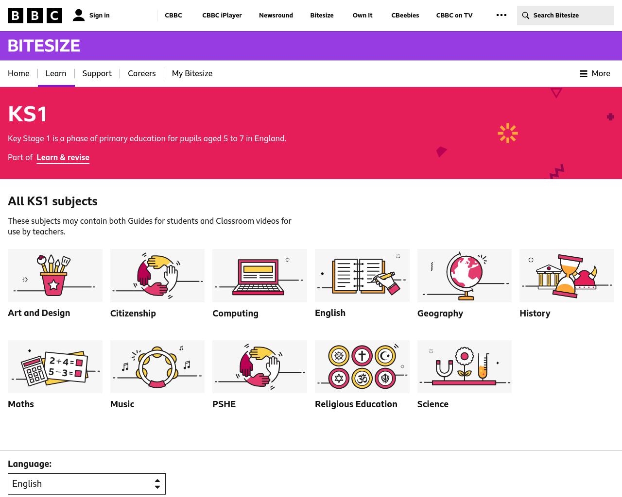 BBC Bitesize KS1