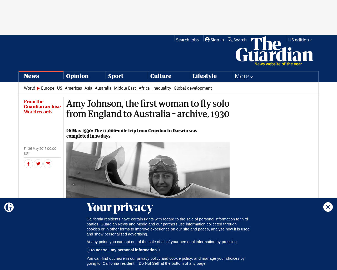 Flight The Guardian Article