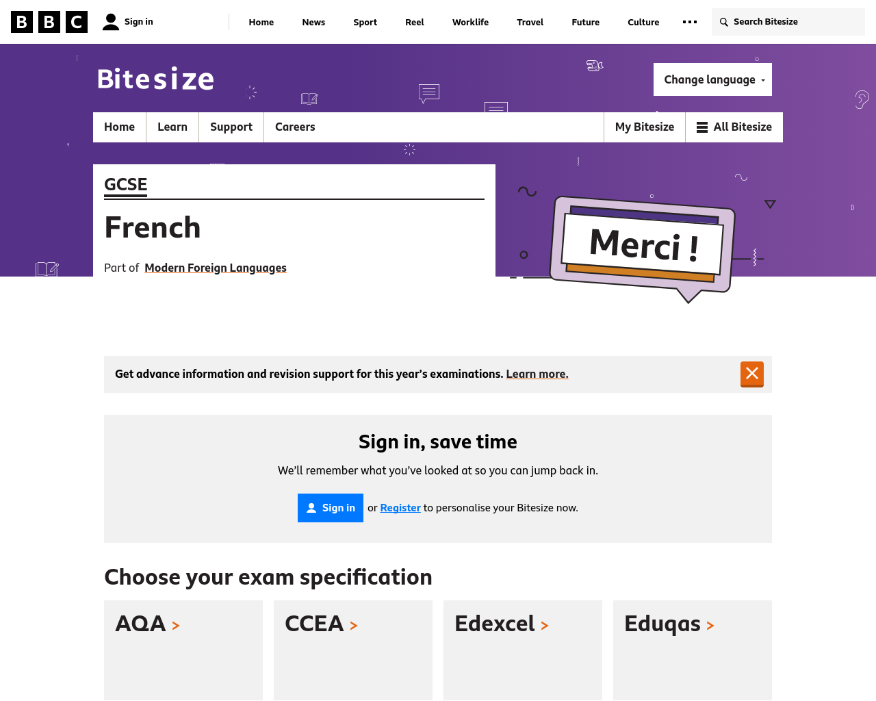 GCSE BITESIZE FRENCH