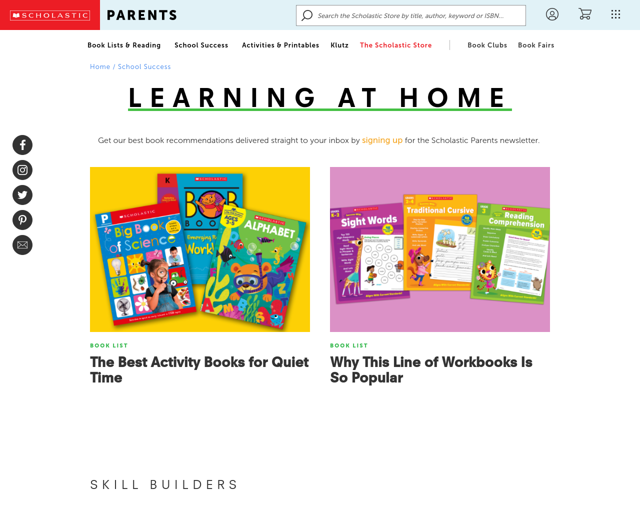 Learn at Home Website