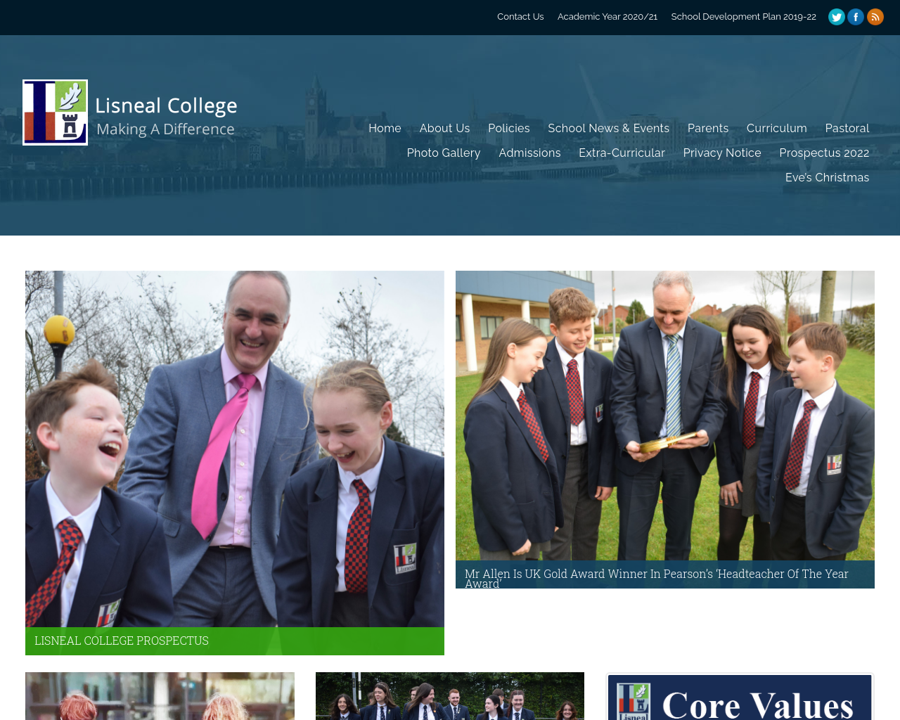 Lisneal College Website