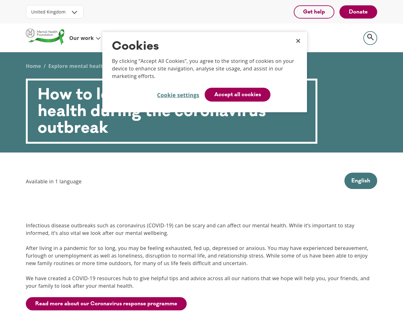 Looking after Mental Health
