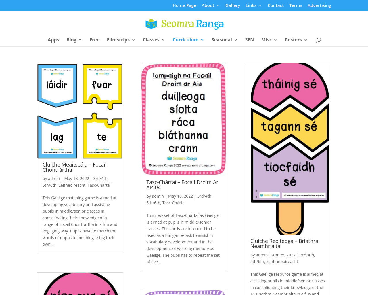 Seomra Ranga Gaeilge Resources for Teaching & Learning