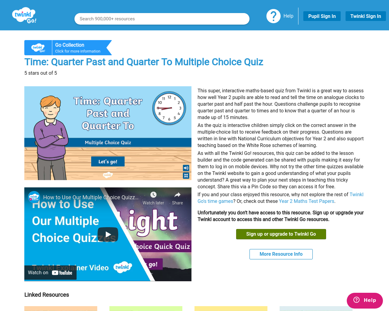 Telling time multiple choice