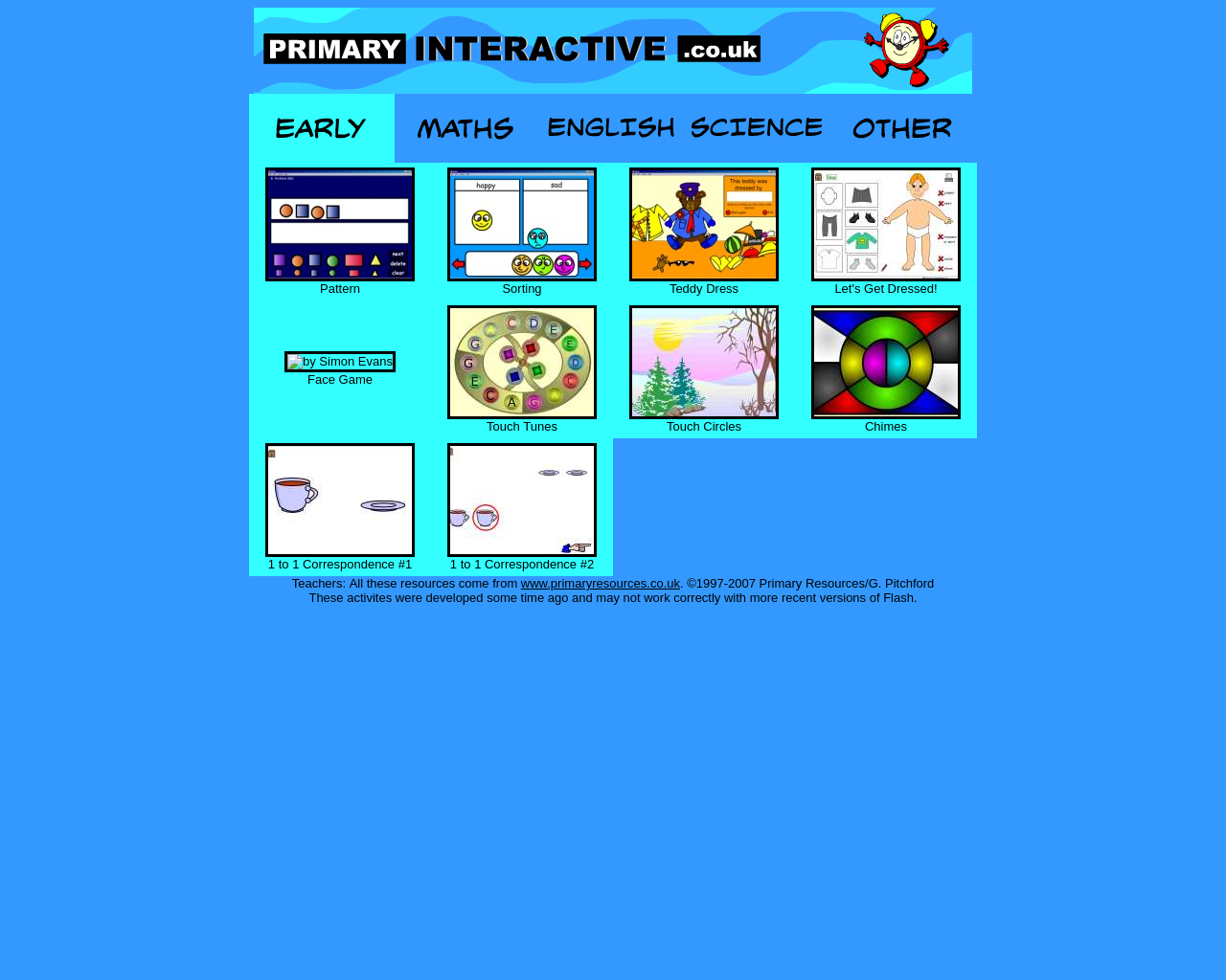 Primary Interactive Early Years