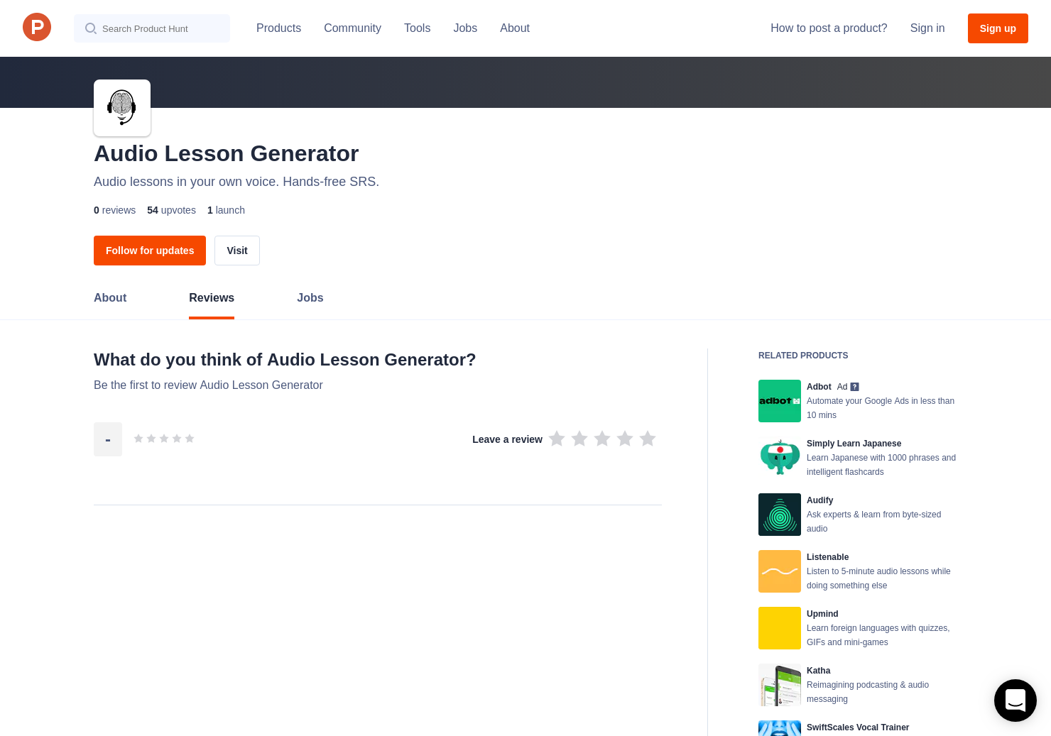 Audio Lesson Generator Reviews - Pros, Cons and Rating