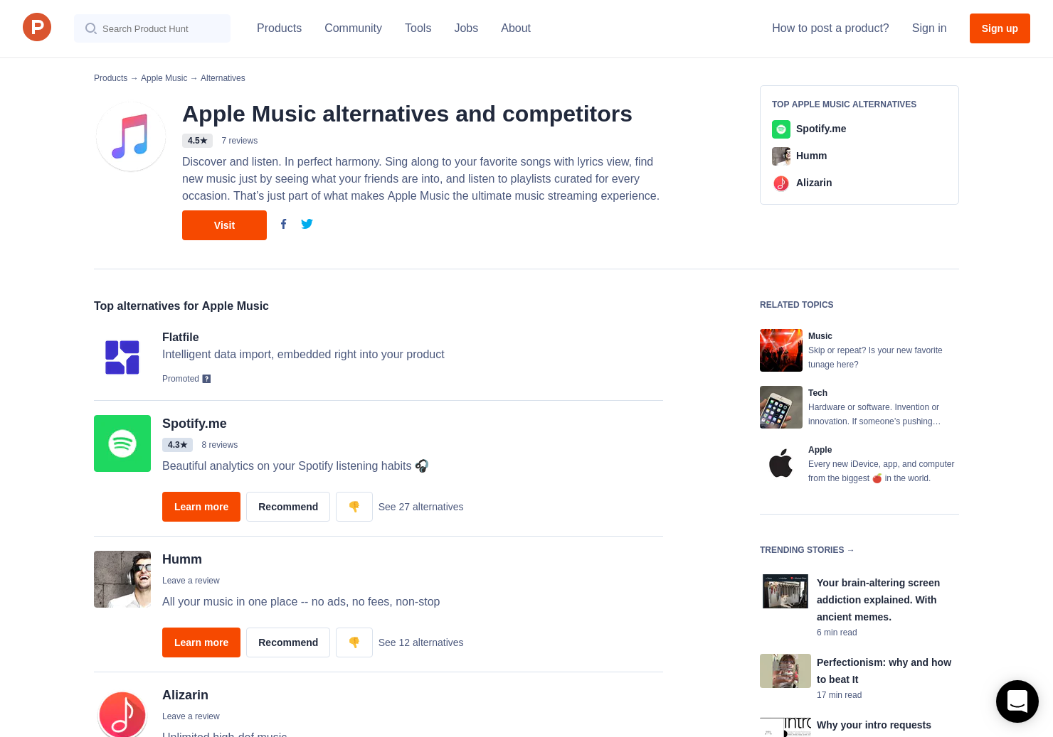 17 Alternatives to Apple Music | Product Hunt