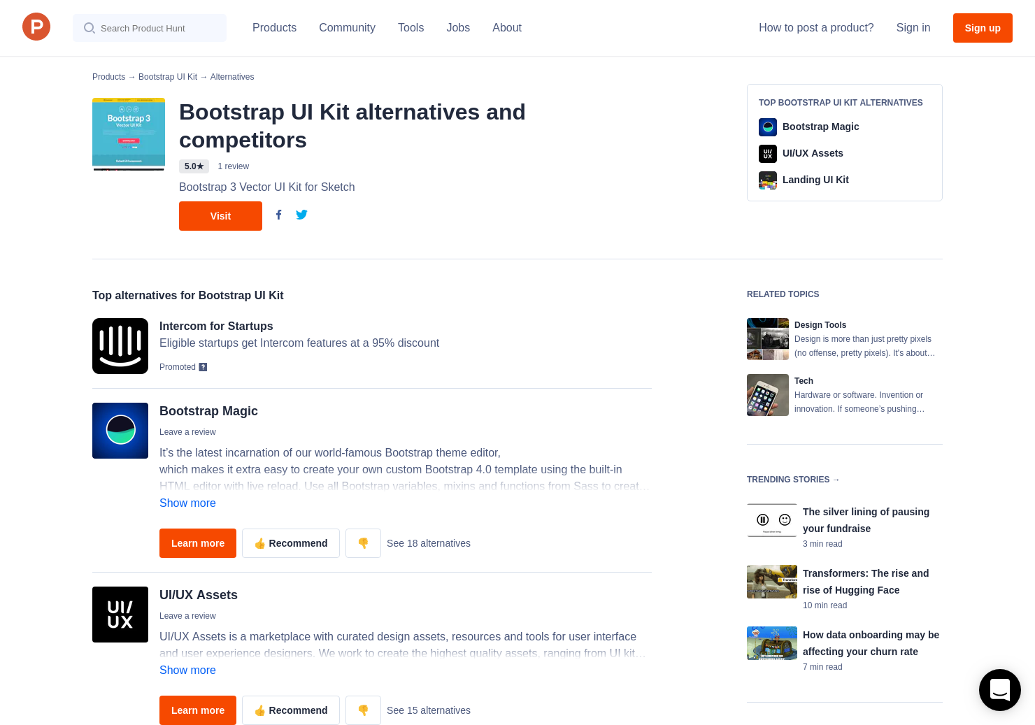 14 Alternatives to Bootstrap UI Kit | Product Hunt