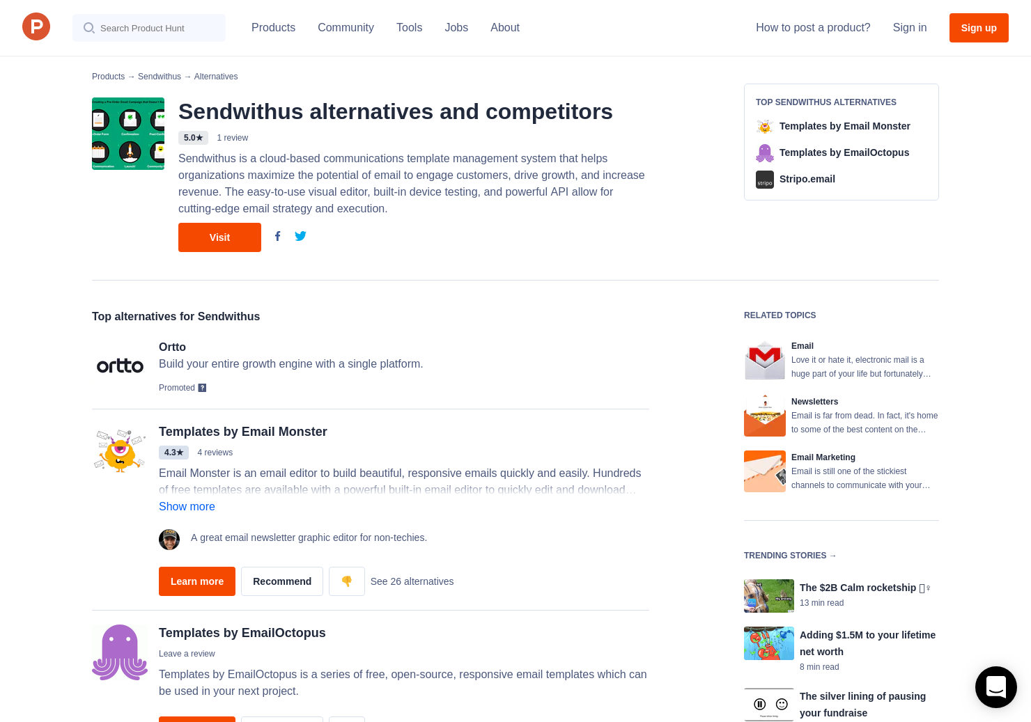 Alternatives To OpenSource Email Template Product Hunt - Open source email templates
