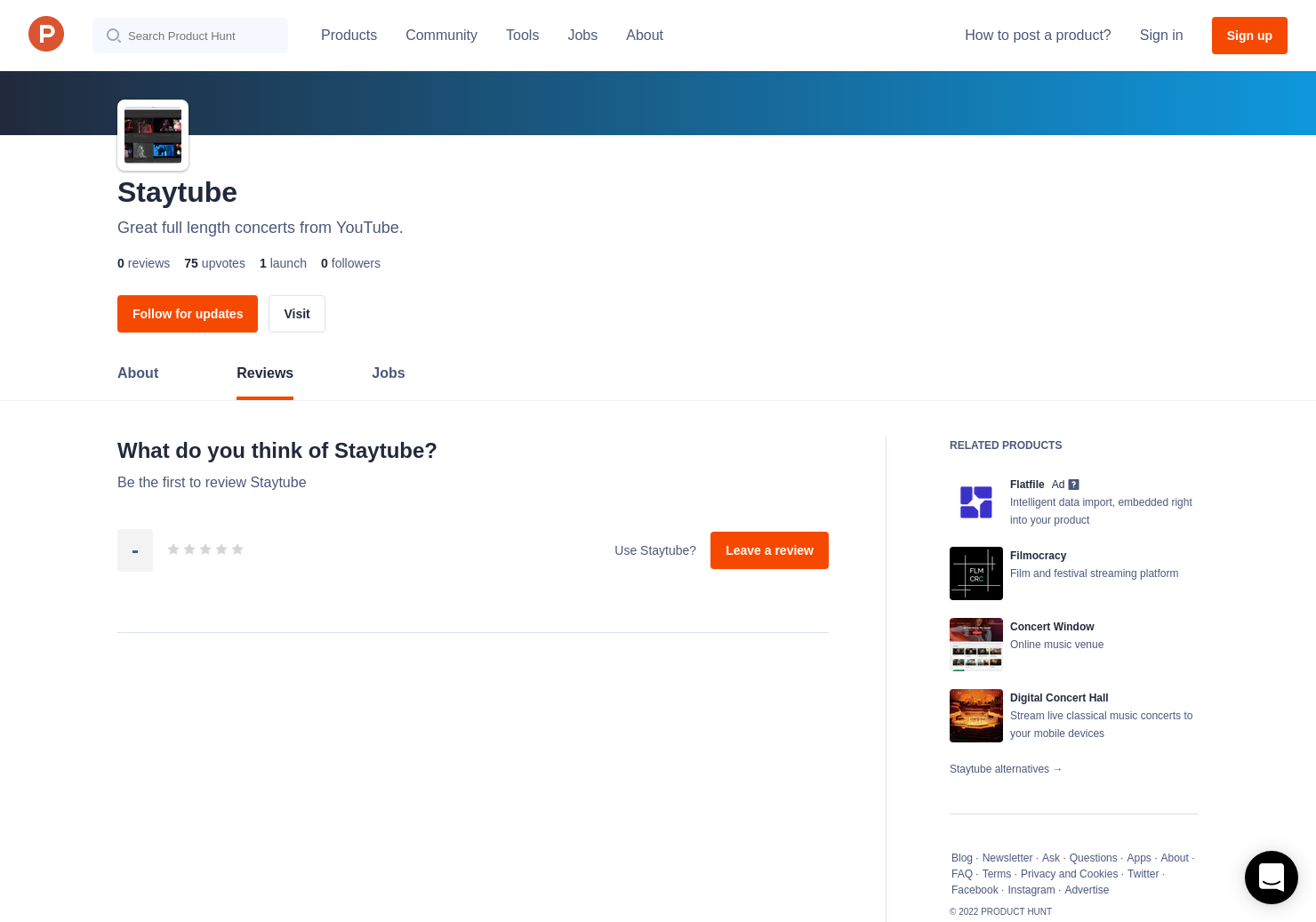Staytube Reviews - Pros, Cons and Rating | Product Hunt