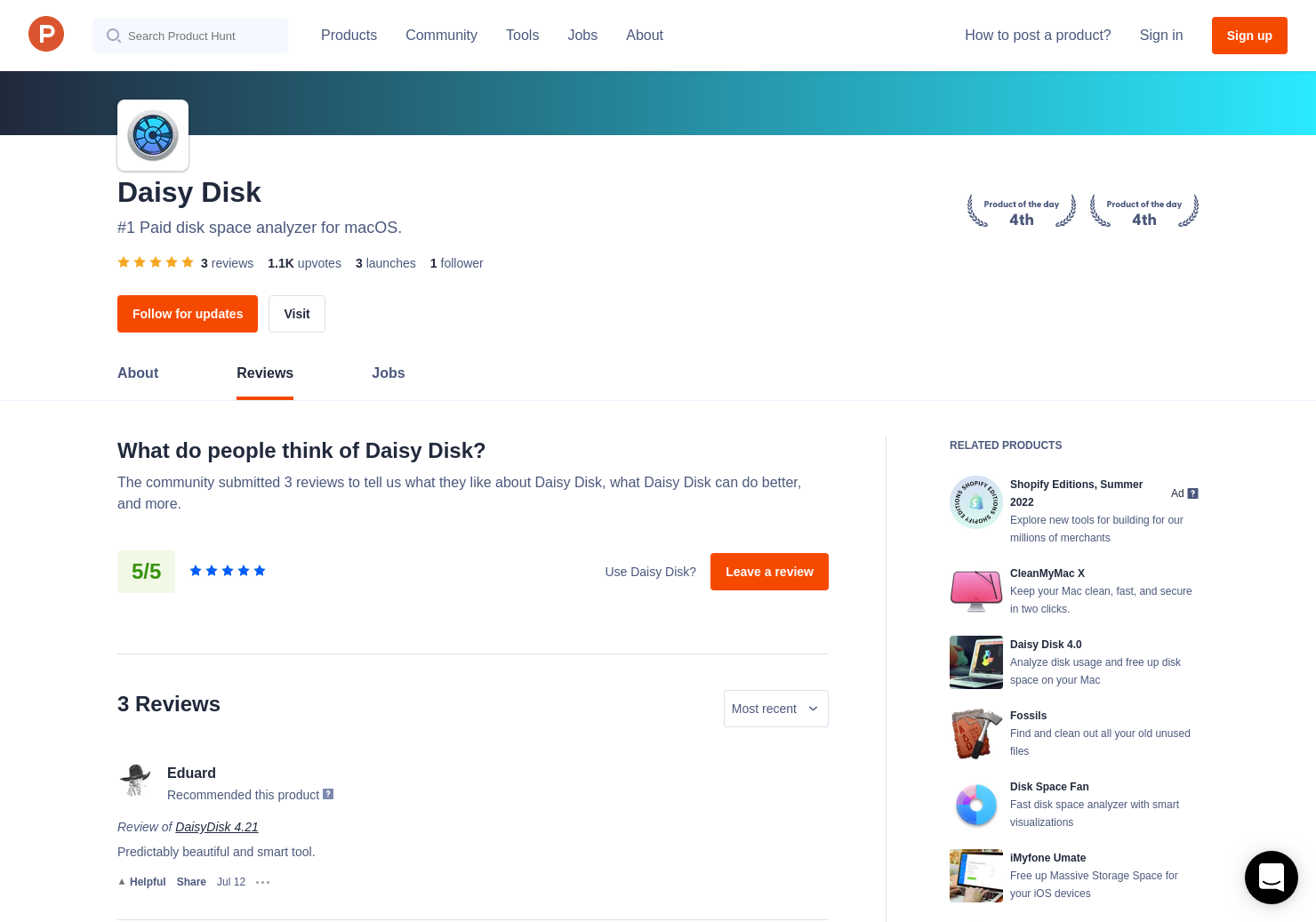 2 DaisyDisk Reviews - Pros, Cons and Rating | Product Hunt