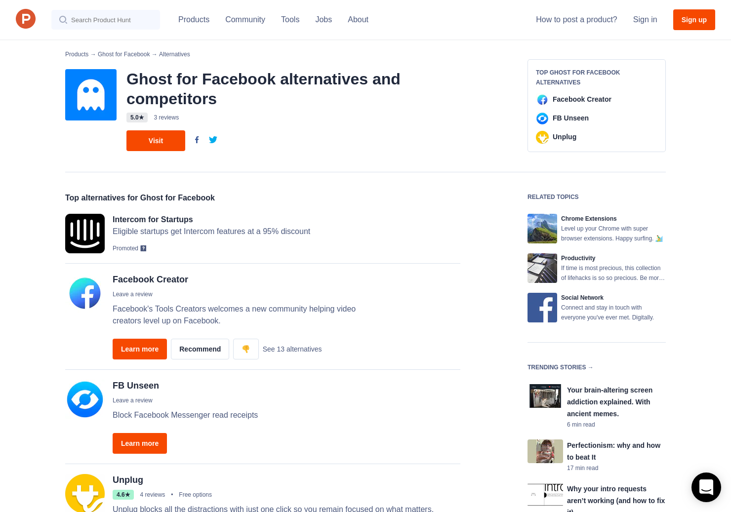 6 Alternatives to Ghost for Facebook for Chrome Extensions