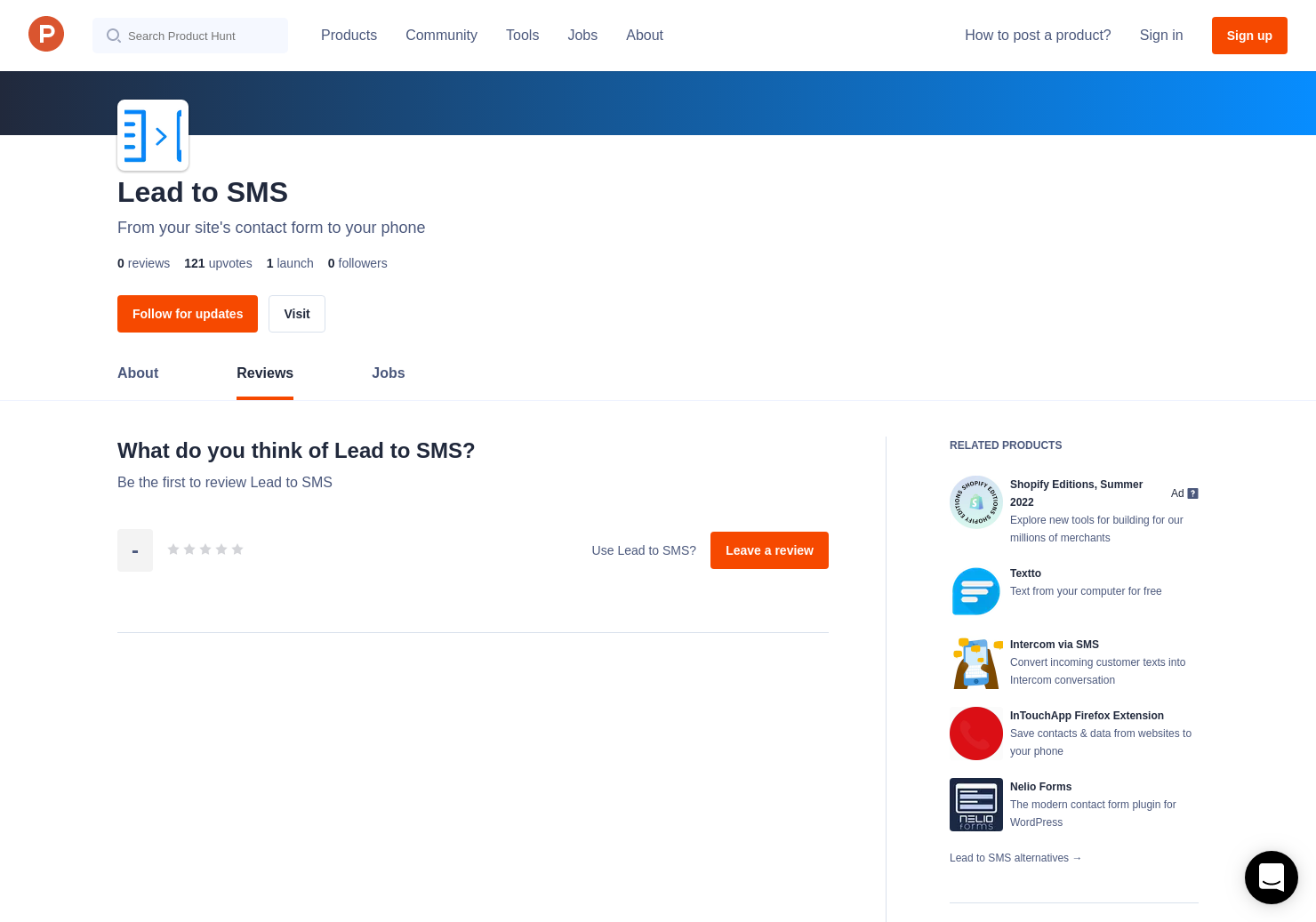 Lead to SMS Reviews - Pros, Cons and Rating | Product Hunt