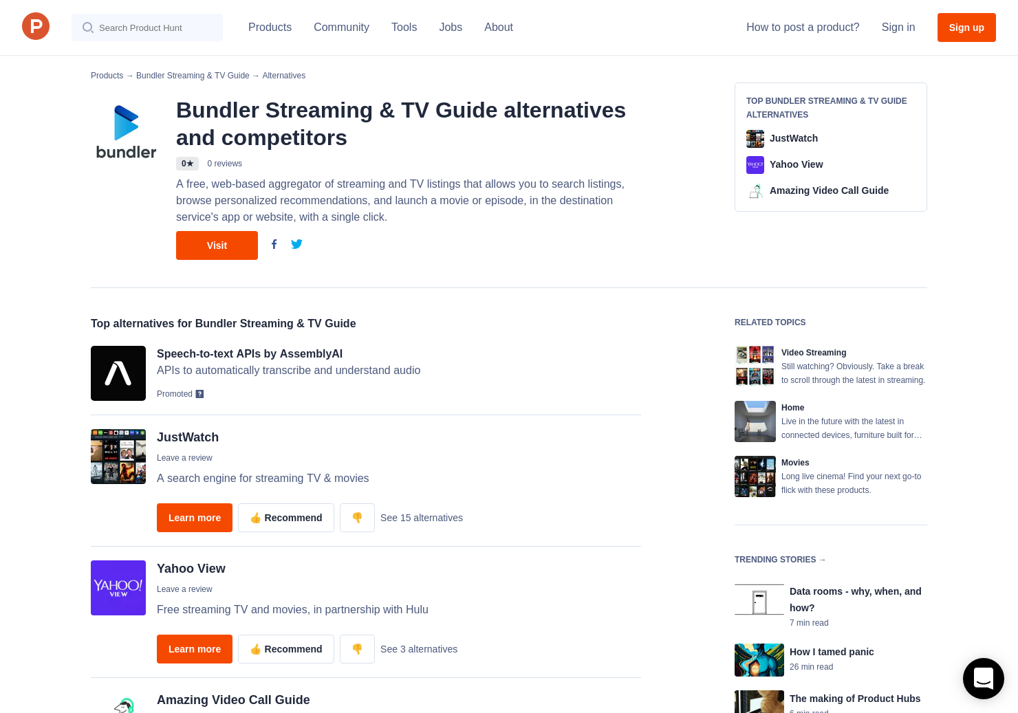 8 Alternatives to Bundler Streaming & TV Guide