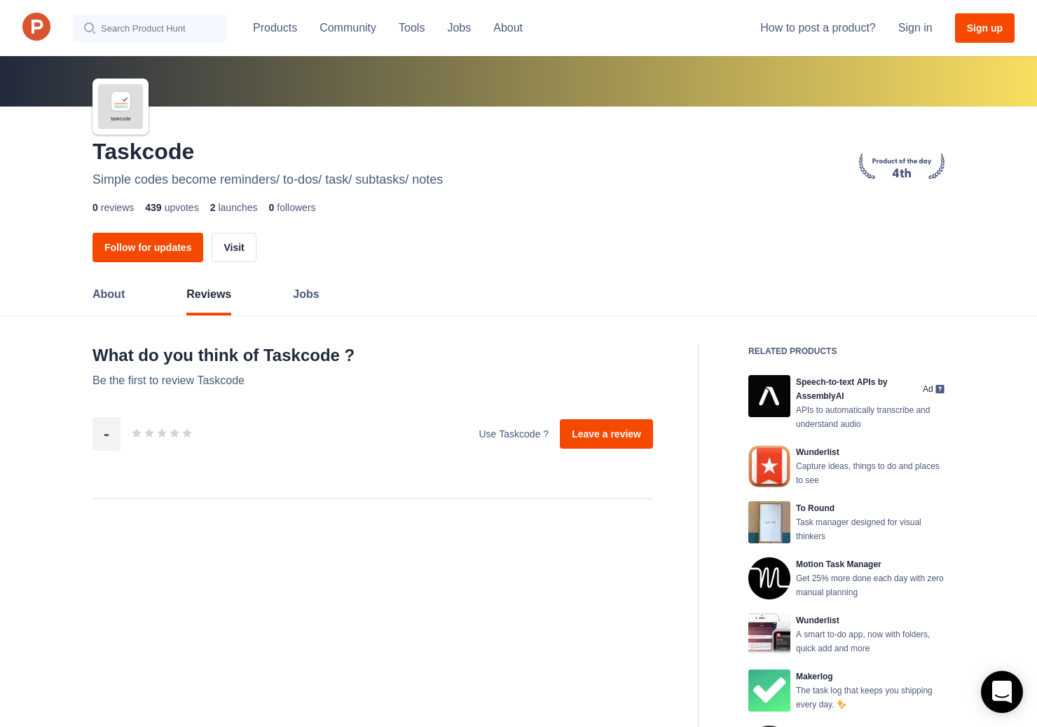 Taskcode Reviews - Pros, Cons and Rating | Product Hunt