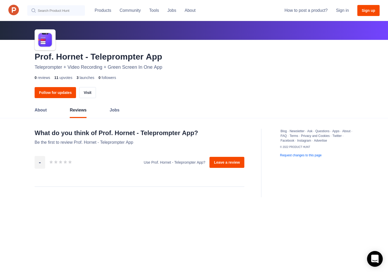 Prof  Hornet - Teleprompter App Reviews - Pros, Cons and Rating