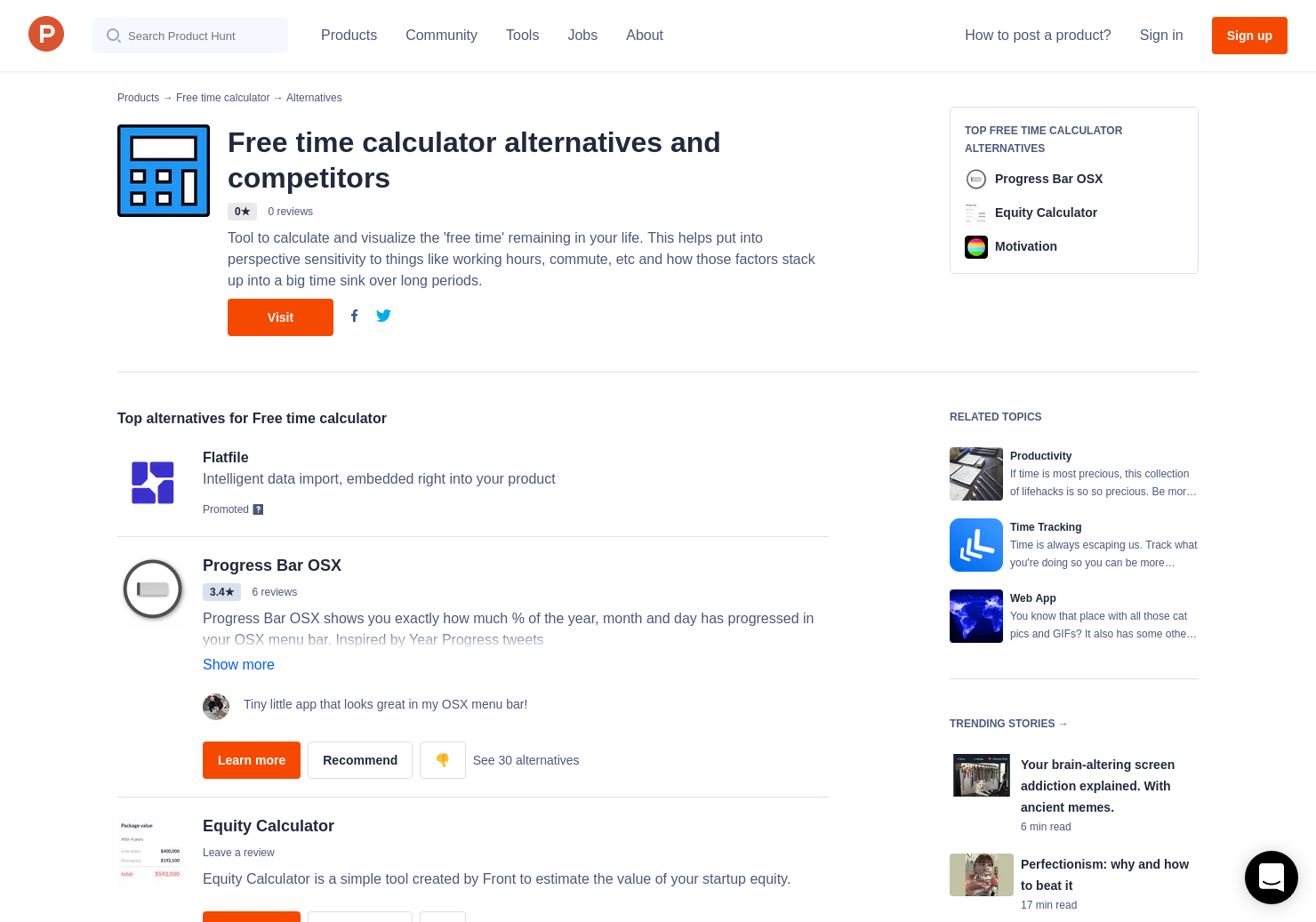 10 alternatives to free time calculator product hunt