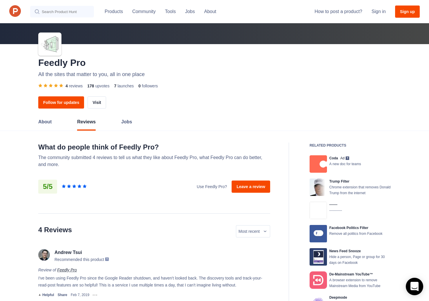 Mute Filters by Feedly Reviews - Pros, Cons and Rating | Product Hunt