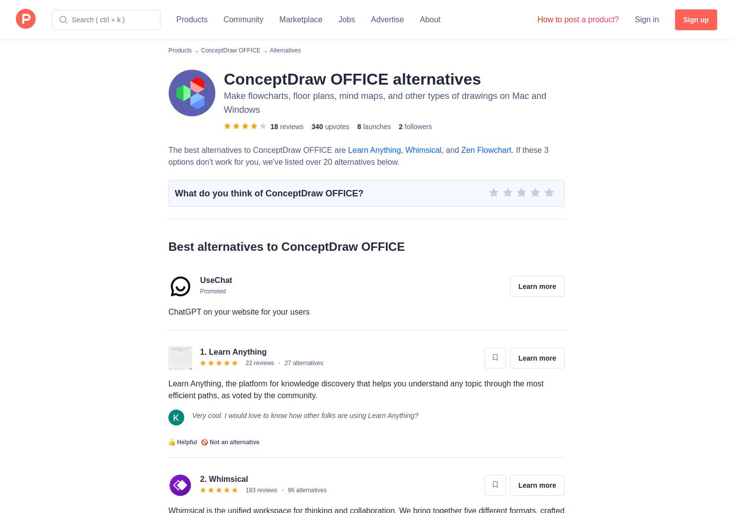 16 Alternatives to ConceptDraw MINDMAP v10 for Windows, Mac