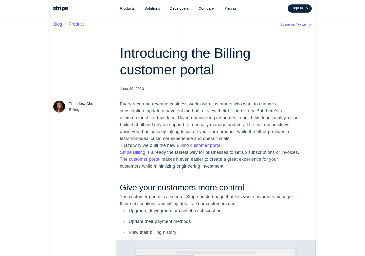 Stripe Billing Customer Portal