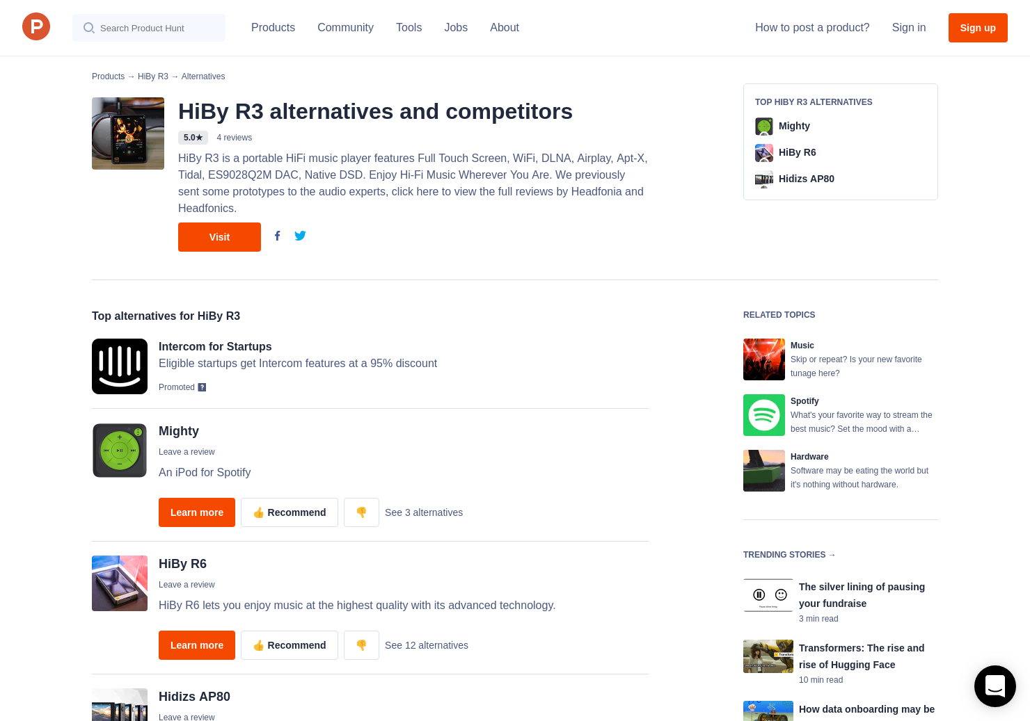 10 Alternatives to HiBy R3 | Product Hunt