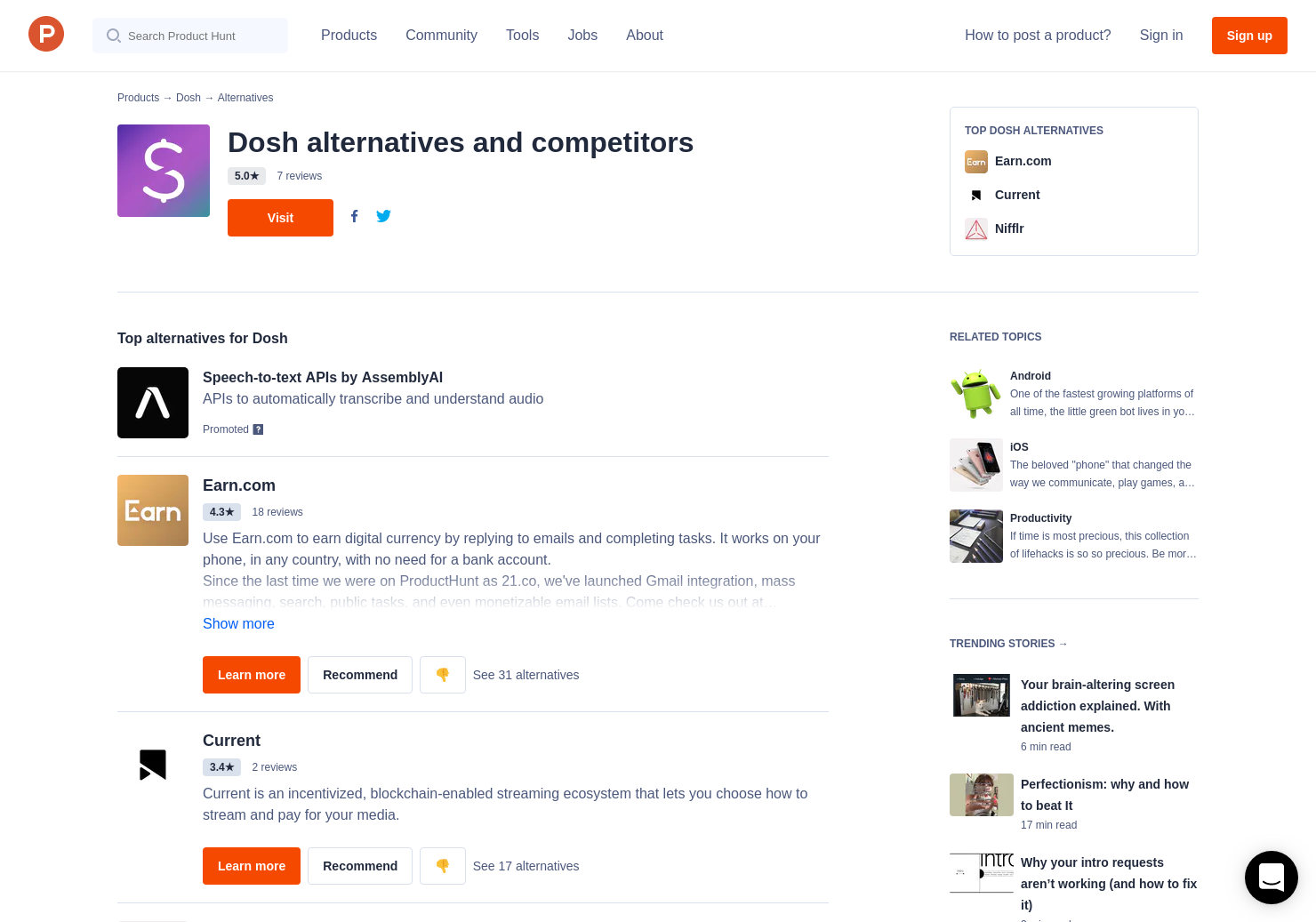 11 Alternatives to Dosh for Android, iPhone | Product Hunt