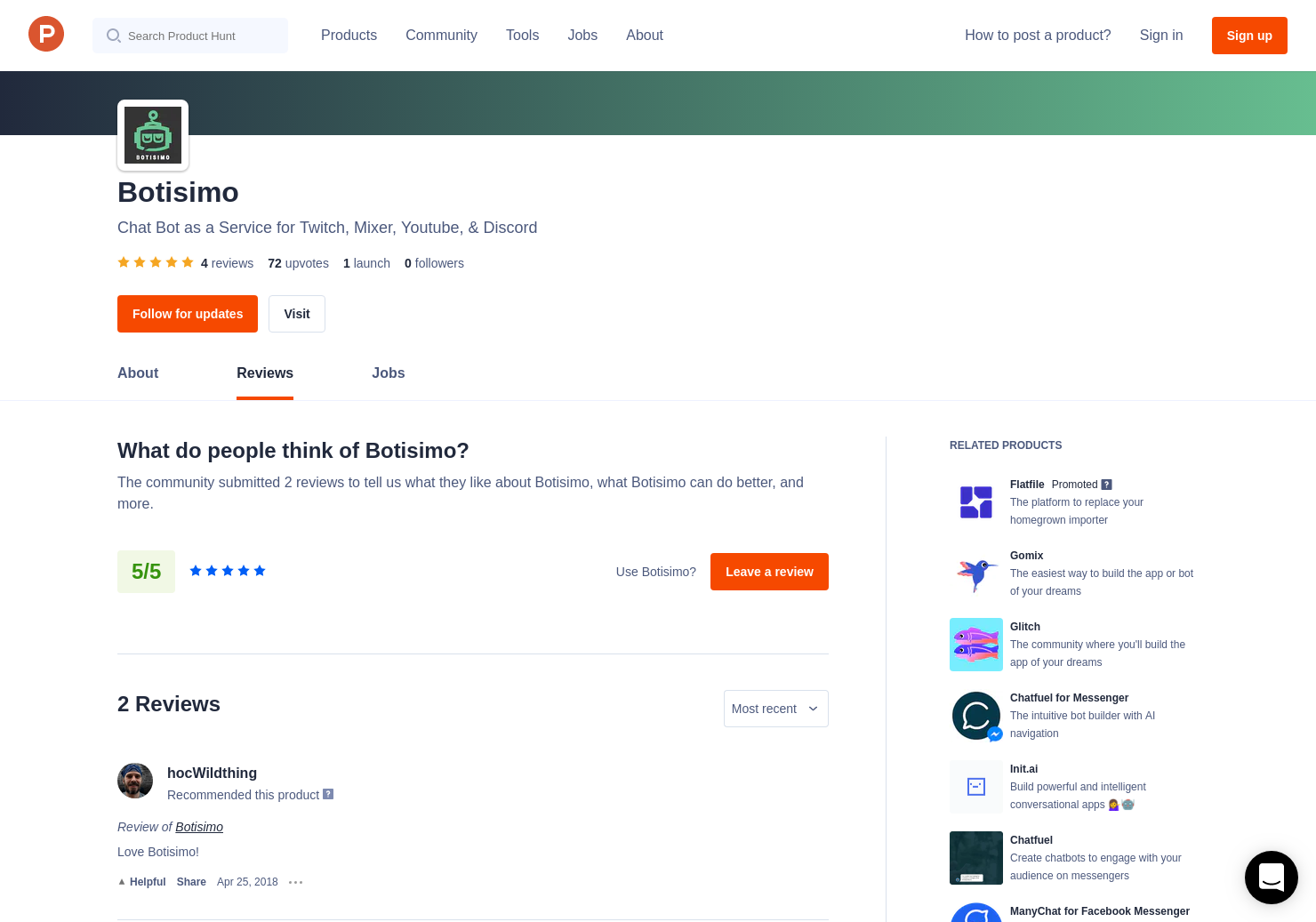 4 Botisimo Reviews - Pros, Cons and Rating | Product Hunt