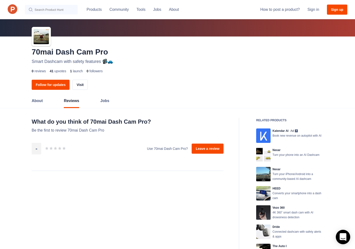 70mai Dash Cam Pro Reviews - Pros, Cons and Rating   Product Hunt