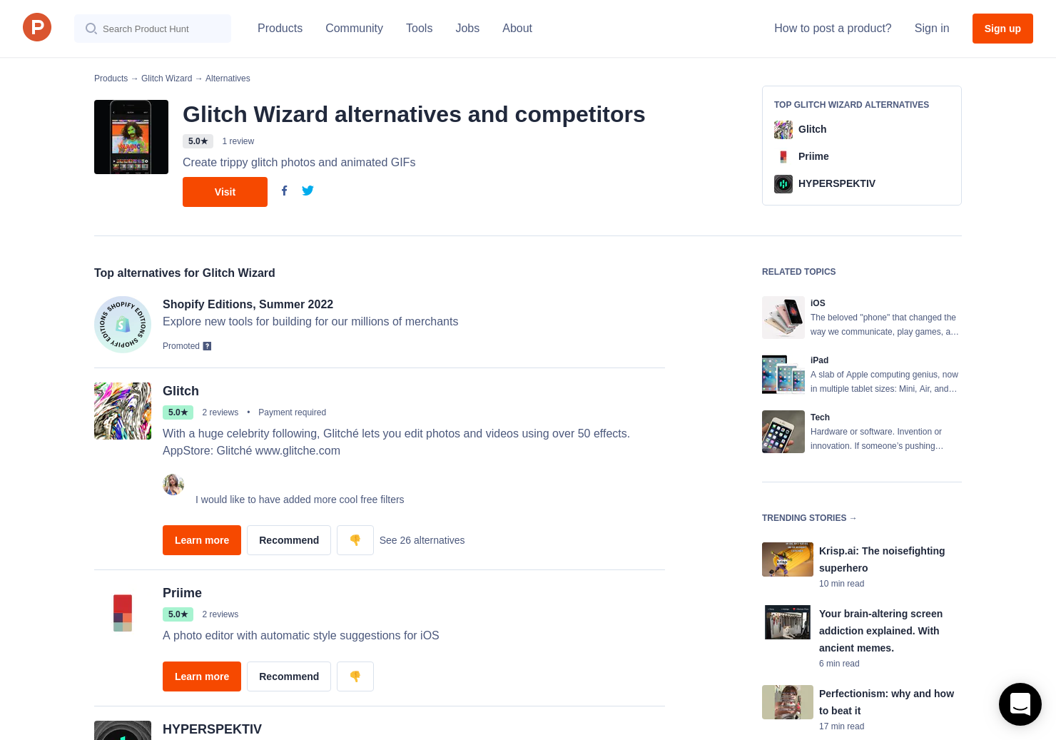 11 Alternatives to Glitch Wizard for iPhone, iPad | Product Hunt