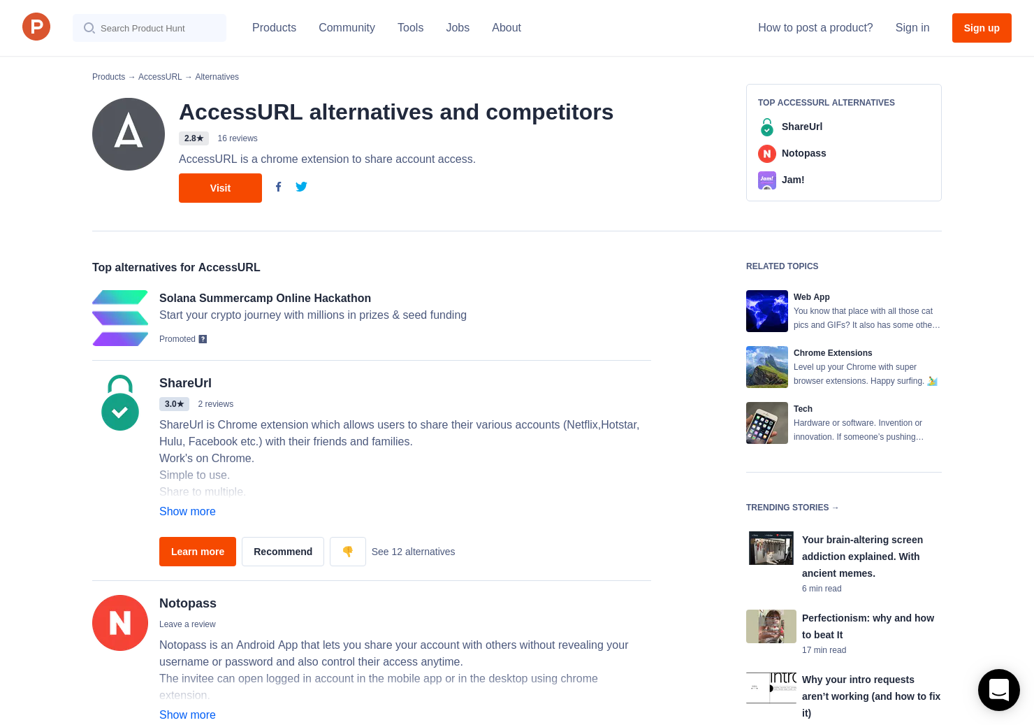 4 Alternatives to AccessURL for Chrome Extensions | Product Hunt
